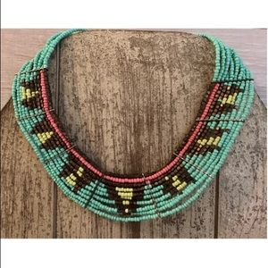 Jewelry - Tribal/BOHO/Aztec turquoise beaded necklace